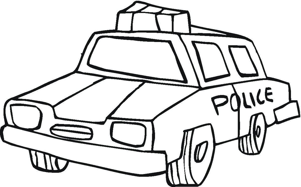 10 Desenhos Para Colorir De Carros De Policia Melhores Casas De
