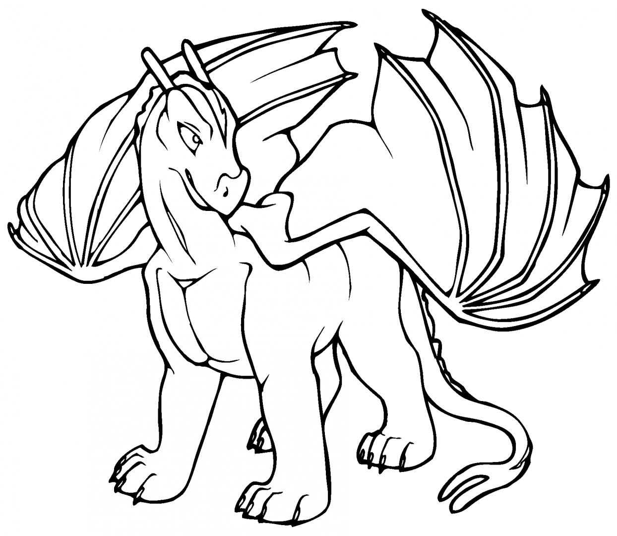 Desenhos Para Pintar De Dragões