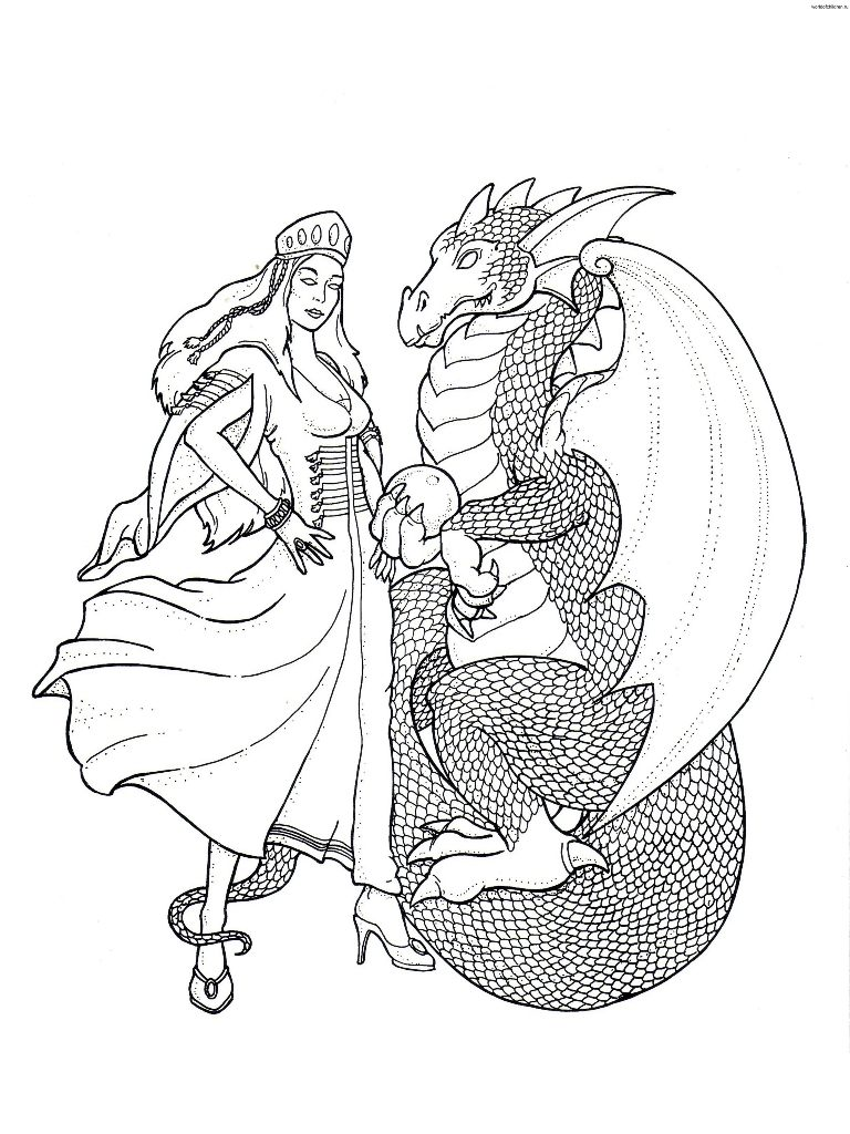 Dragão e princesa