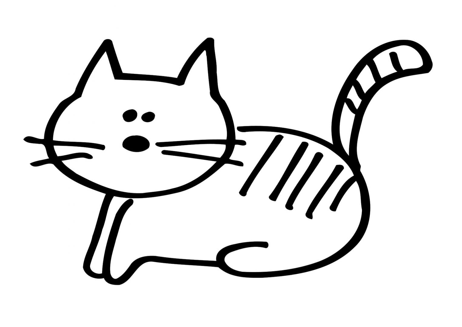 Desenhos infantis de gatos para