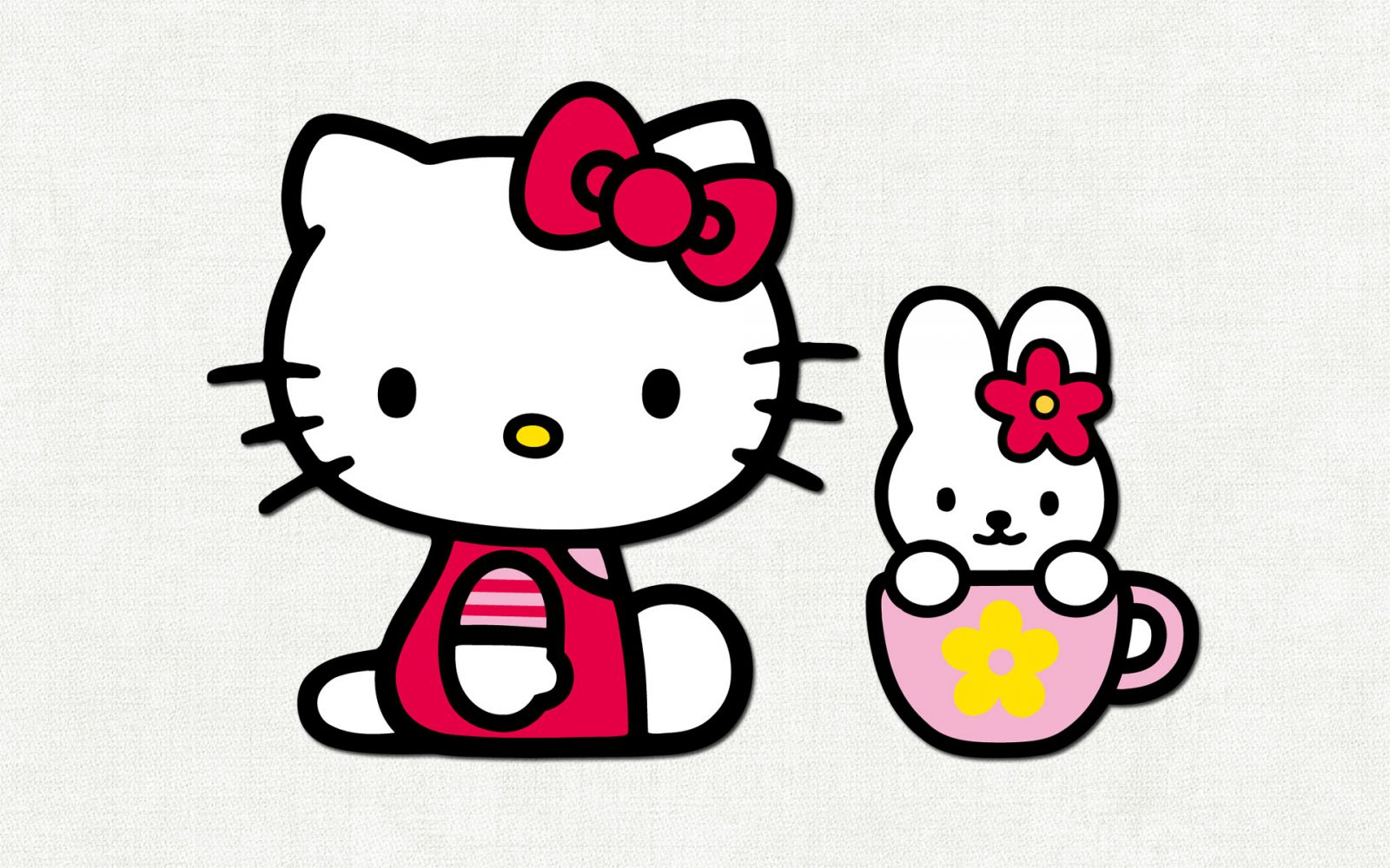 Hello Kitty e coelho